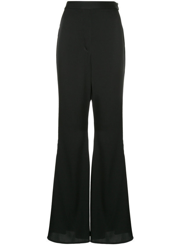 Ellery high-waisted flared trousers - Black