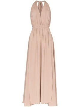 Caravana Hera V neck flared cotton maxi dress - Pink