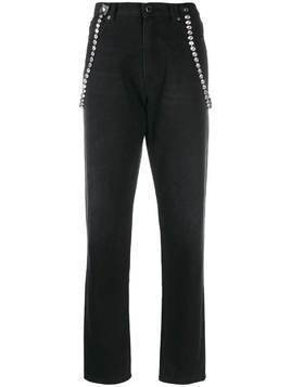 Christopher Kane high waisted crystal jeans - Black