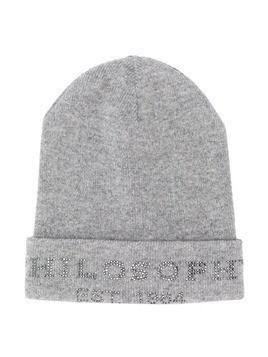 Philosophy Di Lorenzo Serafini Kids studded logo hat - Grey