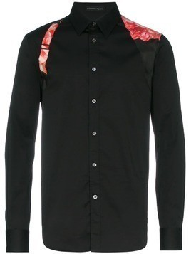 Alexander McQueen silk belted detail shirt - Black