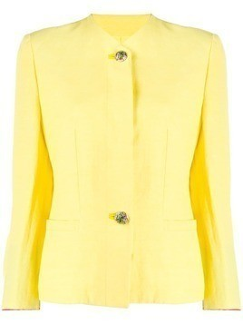 Versace Pre-Owned 1980's single-breasted blazer - Yellow