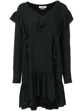 Isabel Marant Étoile - ruffled day dress - Damen - Cupro/Viscose - 38 - Black