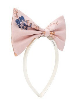 Hucklebones London bow hairband - Pink