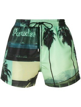 Paul Smith all-over print swim shorts - Green