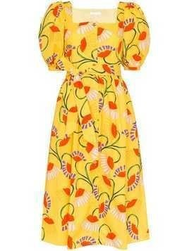 Borgo De Nor floral print midi-dress - Yellow