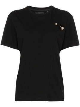 Blindness faux-pearl appliqué cotton T-shirt - Black