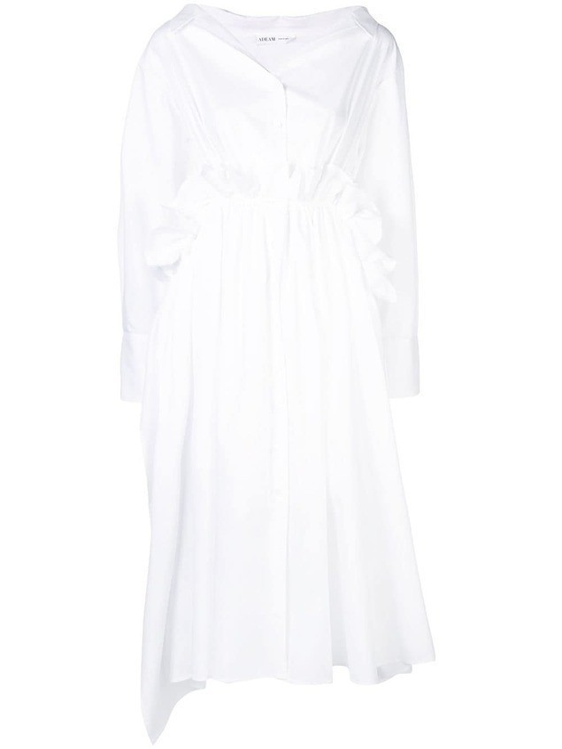 Adeam relaxed shirt dress - White