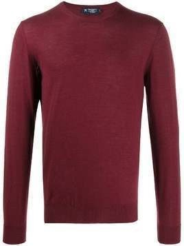 Hackett fine knit crew-neck jumper - Red