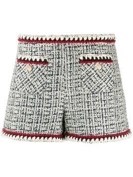 Edward Achour Paris fitted tweed shorts - Blue