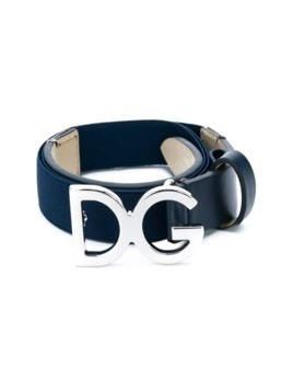 Dolce&Gabbana Kids logo buckle belt - Blue