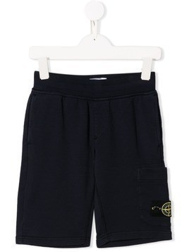 Stone Island Junior jersey shorts - Blue