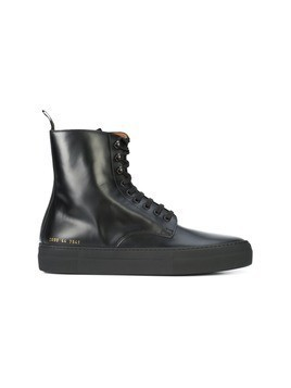 Common Projects Common Projects x Robert Geller smooth lace up military boots - Black