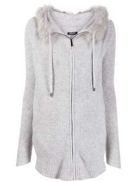 Max & Moi Felicie hooded cardigan - Grey