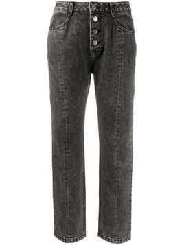 SJYP stonewashed cropped jeans - Black