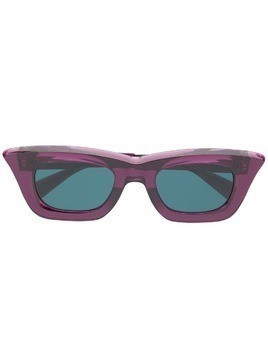 Kuboraum rectangular frame sunglasses - Purple