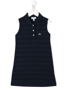 Lacoste Kids embroidered logo tank dress - Blue
