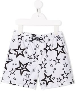 Dolce & Gabbana Kids star print swim shorts - White