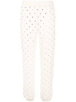 Haney Colette embellished trousers - Neutrals
