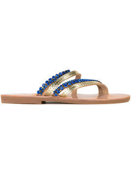 Elina Linardaki Asteroid sandals - Brown