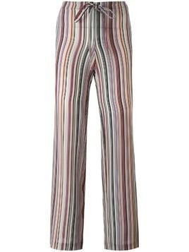 Theory striped straight trousers - Multicolour