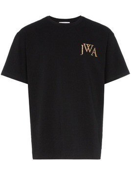JW Anderson embroidered logo T-shirt - Black