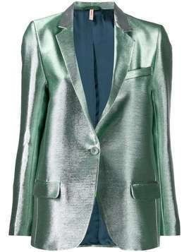 Indress fitted lurex jacket - SILVER