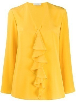 Etro ruffle long sleeve blouse - Yellow