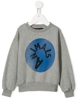 The Animals Observatory printed logo sweatshirt - Grey