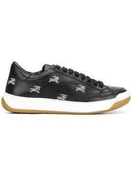 Burberry Equestrian Knight Embroidered sneakers - Black