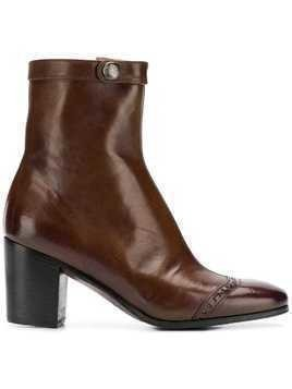 Alberto Fasciani heeled ankle boots - Brown
