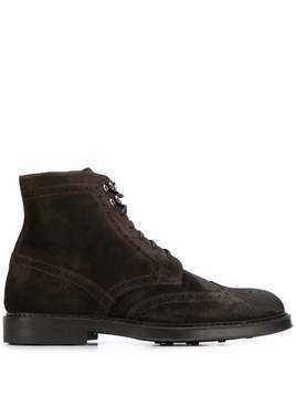Doucal's brogue boots - Brown