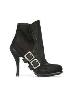 Christian Dior Vintage buckled booties - Black