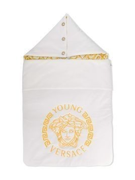 Young Versace logo sleeping nest - White