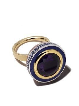 Alice Cicolini 14kt and 22kt gold and silver Tile round ring