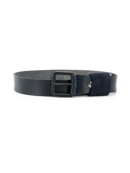 Paolo Pecora Kids cracked-effect leather belt - Blue