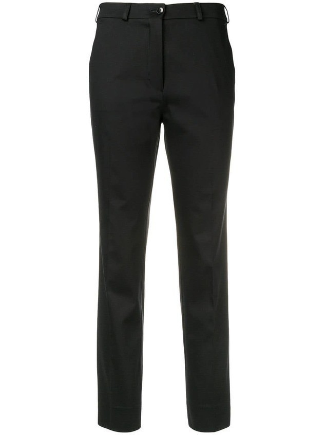 Etro cropped slim-fit trousers - Black