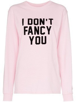 Ashish x Browns I Don't Fancy You slogan jersey top - Pink