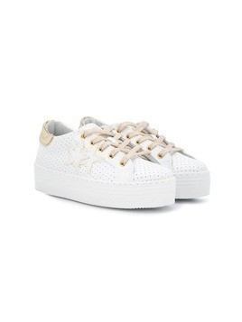 2 Star Kids perforated sneakers - White