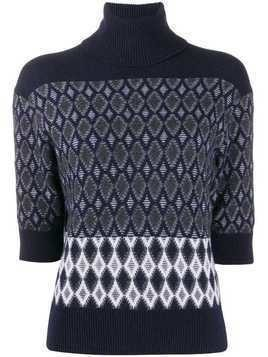 Chloé intarsia polo knit jumper - Blue