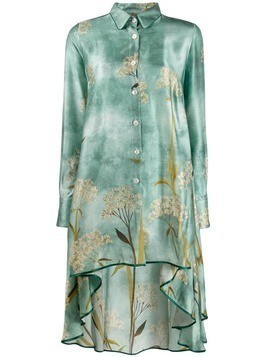 F.R.S For Restless Sleepers asymmetric printed dress - Blue