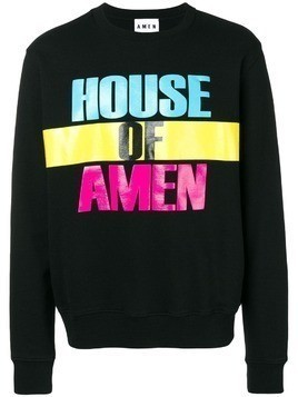 Amen House of Amen print sweatshirt - Black