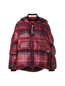 Hilfiger Collection tartan print down coat - Red