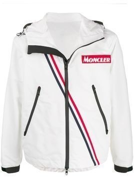 Moncler logo patch sports jacket - White