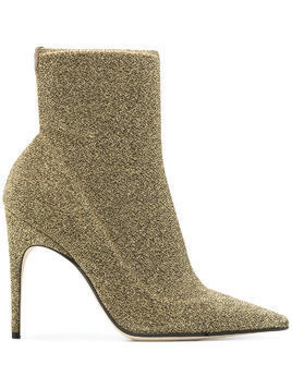Sergio Rossi pointed ankle boots - Metallic
