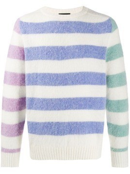 Howlin' Acid Journey striped jumper - White