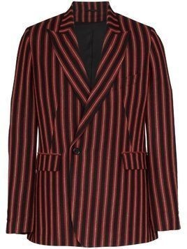 Ann Demeulemeester striped double-breasted blazer - Black