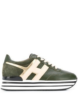 Hogan platform sole sneakers - Green