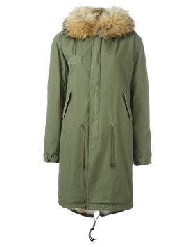 Mr & Mrs Italy raccoon and coyote fur lined parka - Green