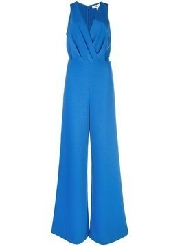Likely plunge neck jumpsuit - Blue